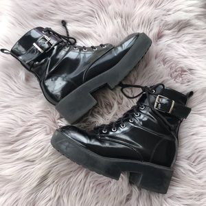 H&M Black Combat Boot 7